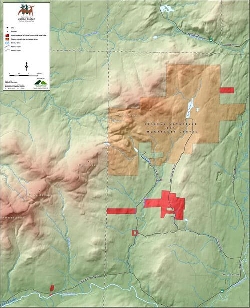 carte des territoires protégés de la FFVR